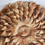 Tarte soleil ready to bake.