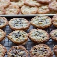 Passover Chocolate Florentine Cookies