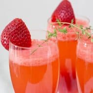 Fresh Strawberry Thyme Bellini