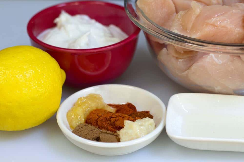 ingredients for tandoori chicken that goes in kathi rolls