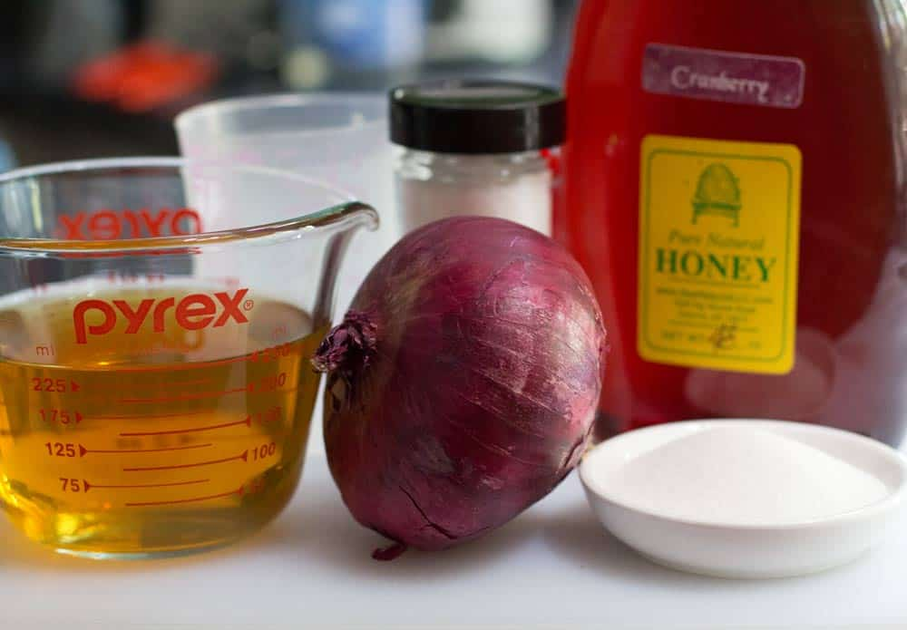 ingredients for making pickled red onions