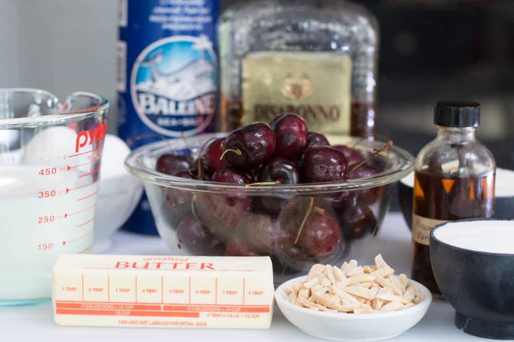 ingredients for cherry clafoutis