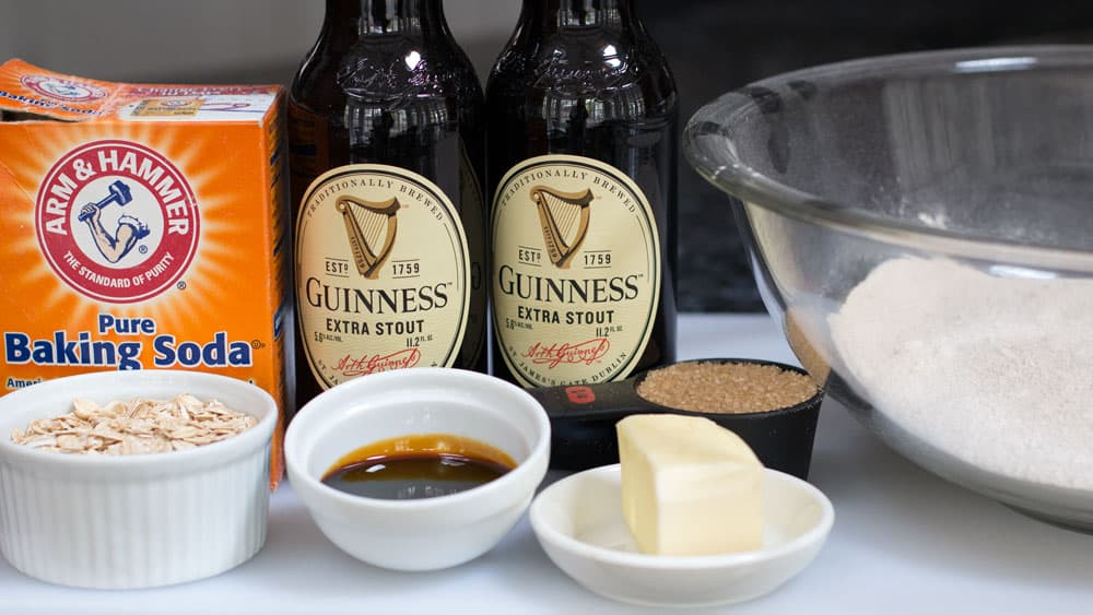 Ingredients for Irish brown bread