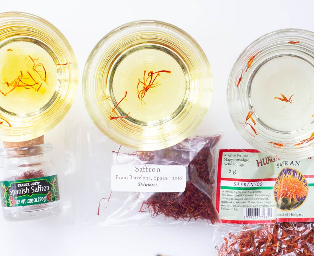 using the water test to find real saffron