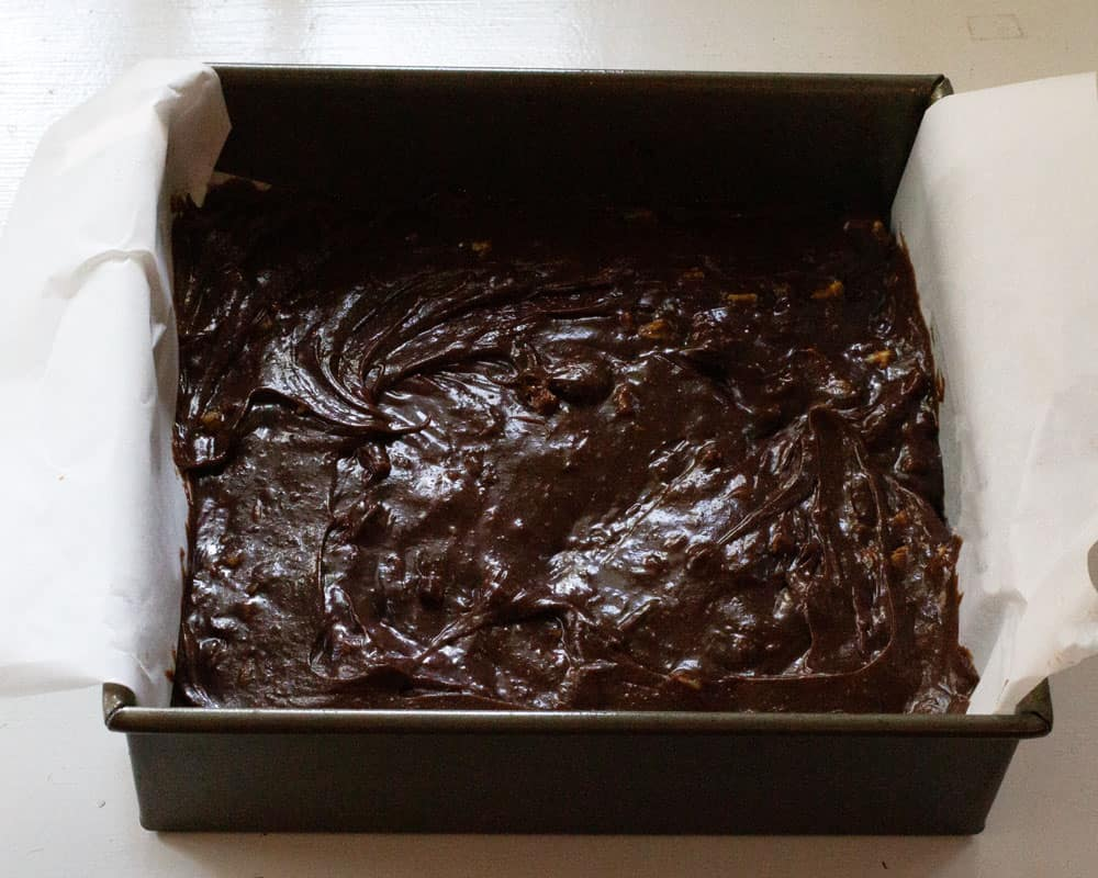 brownies ready to bake