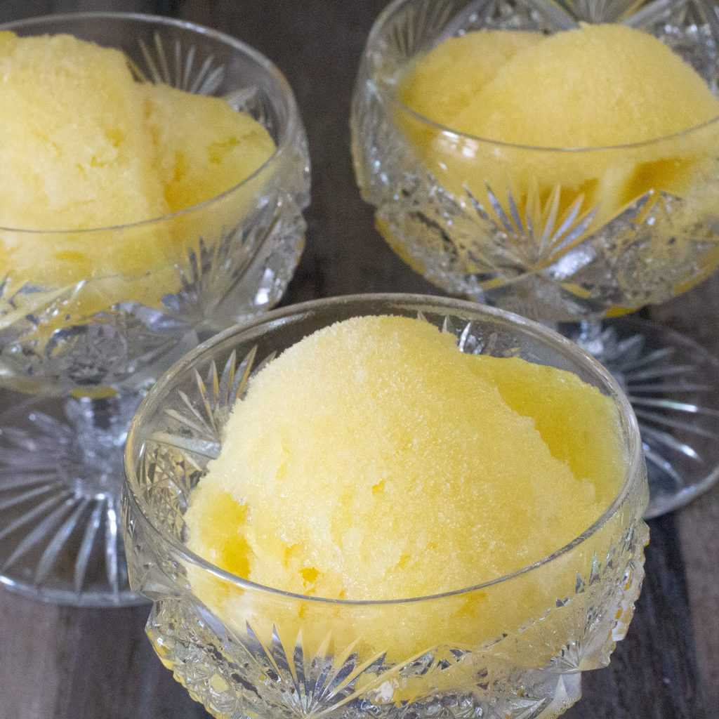 Dairy-Free Pineapple Sherbet in 3 cups