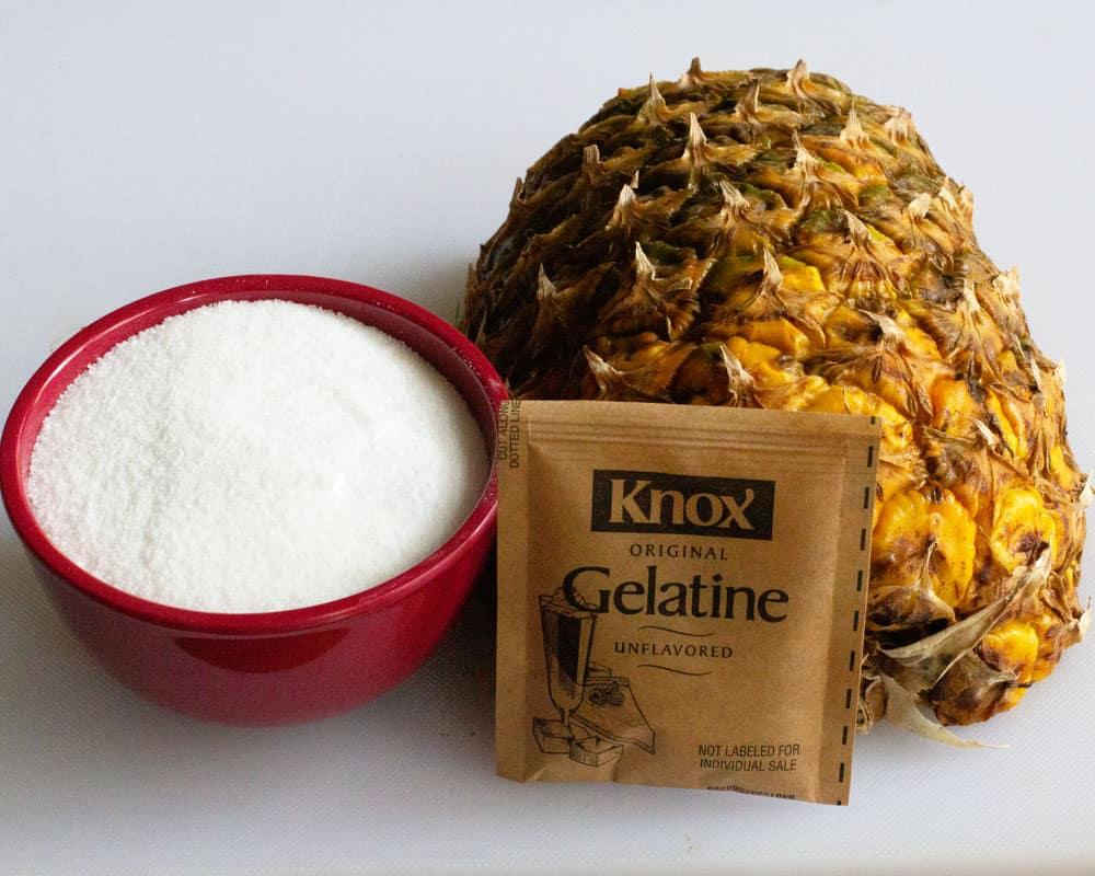 ingredients for Dairy-Free Pineapple Sherbet