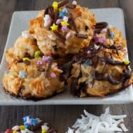 Colorful Passover Coconut Macaroons