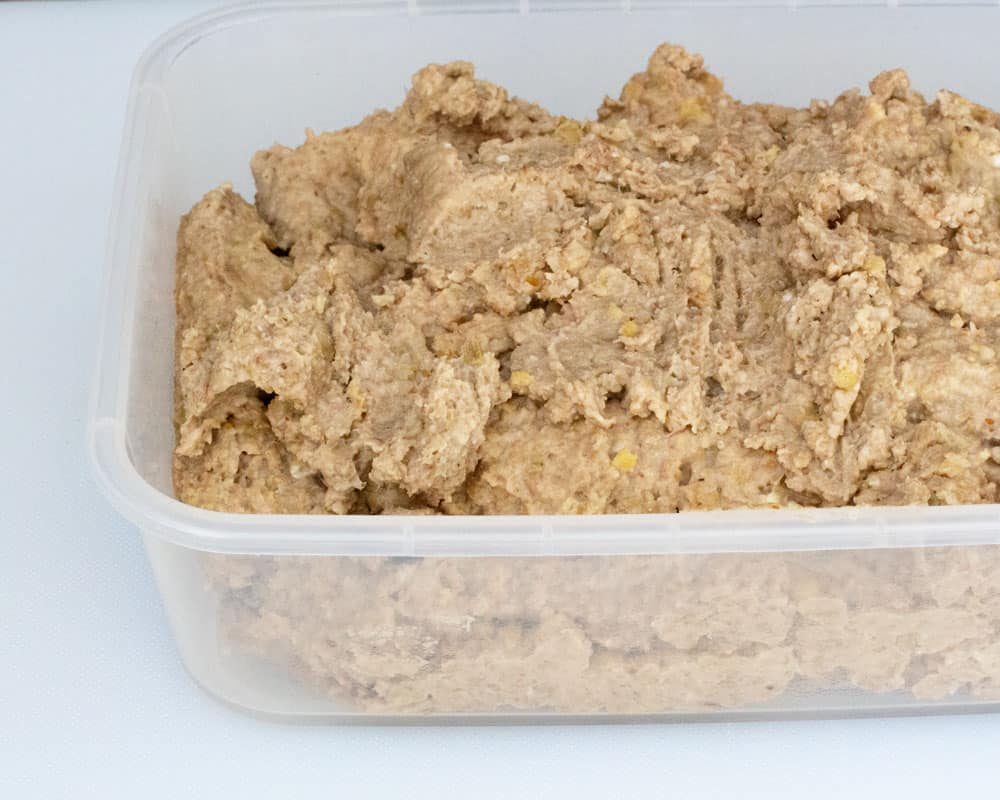 everything chopped and ready to refrigerate for vegetarian chopped liver with lentils