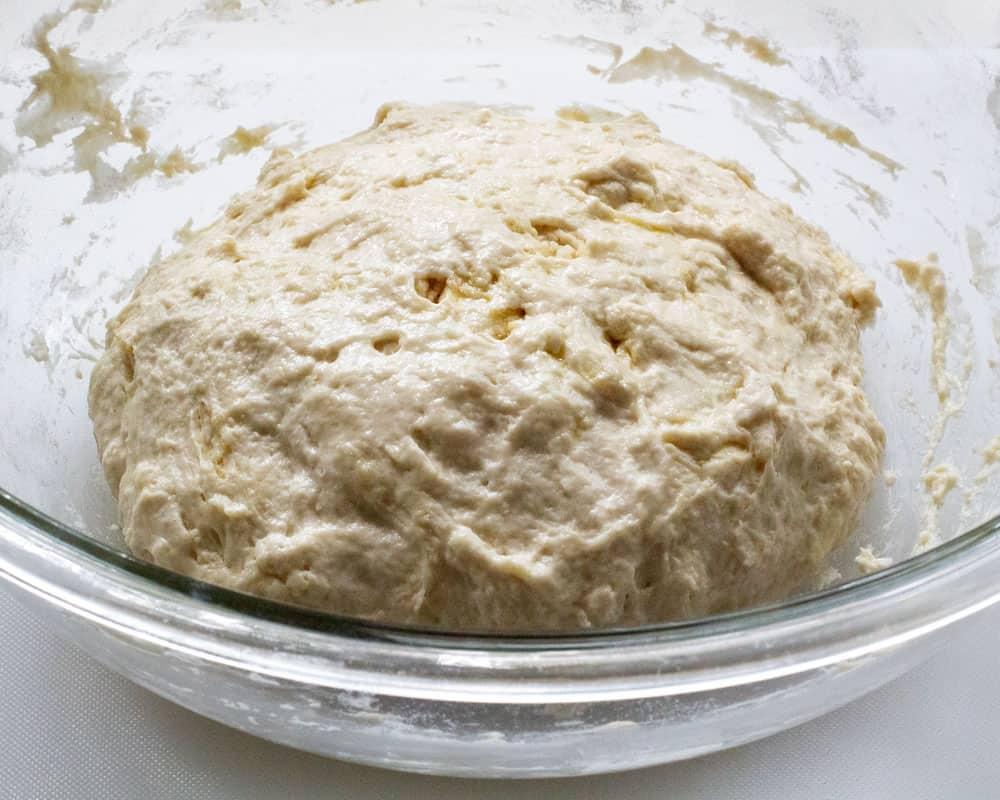 pletzel dough ready to proof